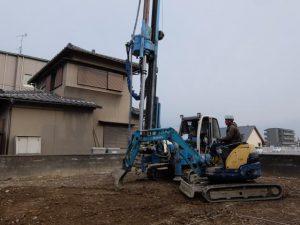 基礎工事進行中です。