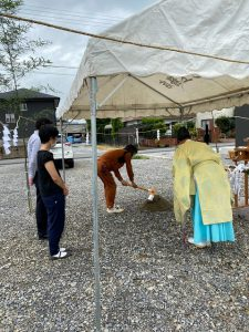 賑やかな地鎮祭/東近江市